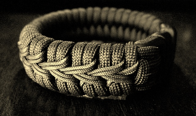 doubled center stitched paracord bracelet flickr photo
