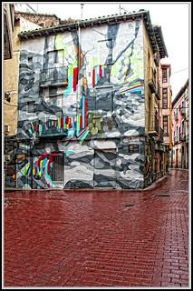 Graffitis en Zaragoza-Calle Matias Carrica