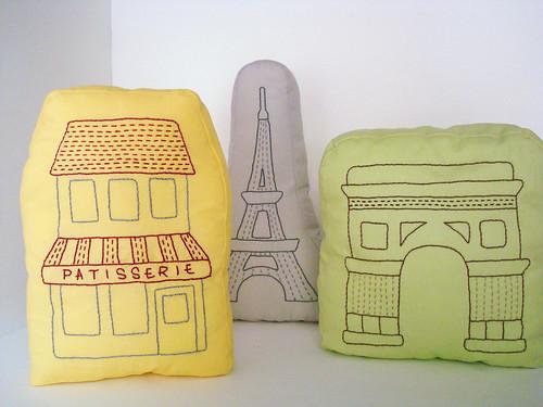Paris pillows by ALittleWorld