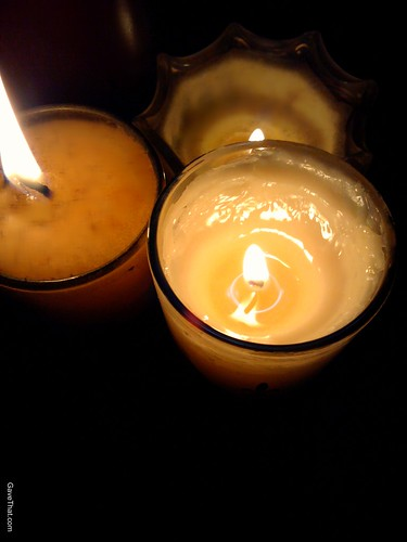 Burning Candles Calm Before The Storm