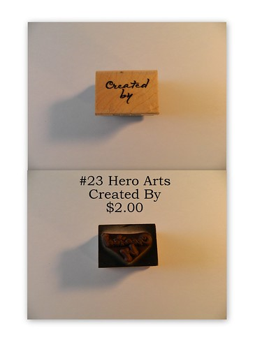 #23 Hero Arts Created By $2.00