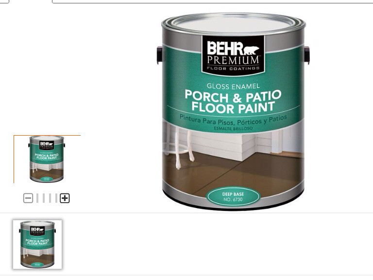 ... Porch And Patio Floor Paint, In Two Different Colors. The First Was  Just Their Plain Bright White. No Tint. The Second Color Was Benjamin  Mooreu0027s ...