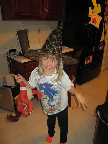 """Catie Witch doing a """"scary face"""""""