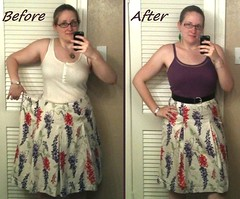 Pleated Skirt Before & After