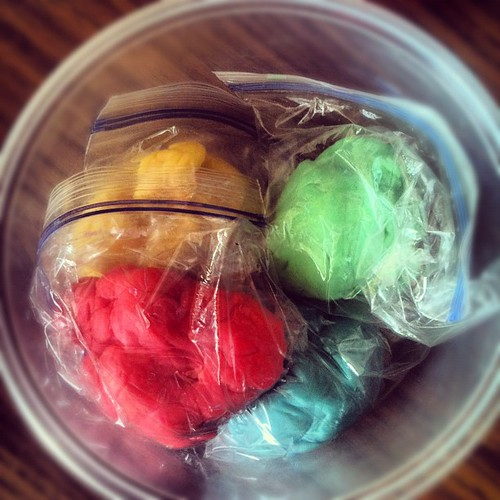 Homemade play dough is glorious.