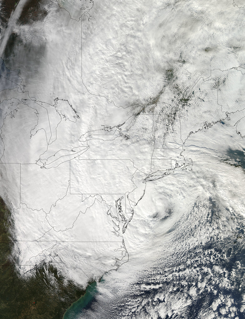 Hurricane Sandy as viewed on October 29