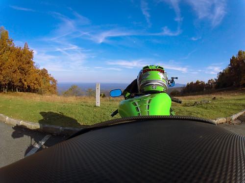 mountain green fall view ninja hero overlook kawasaki motorsport zx6r hd2 gopro