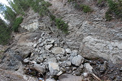 mountain, rubble, rockfall, geology, bedrock, terrain, rock,