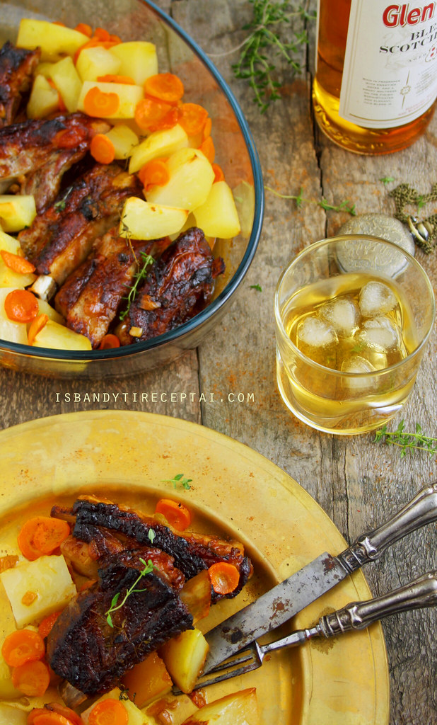 Pork Ribs with Whiskey and Honey