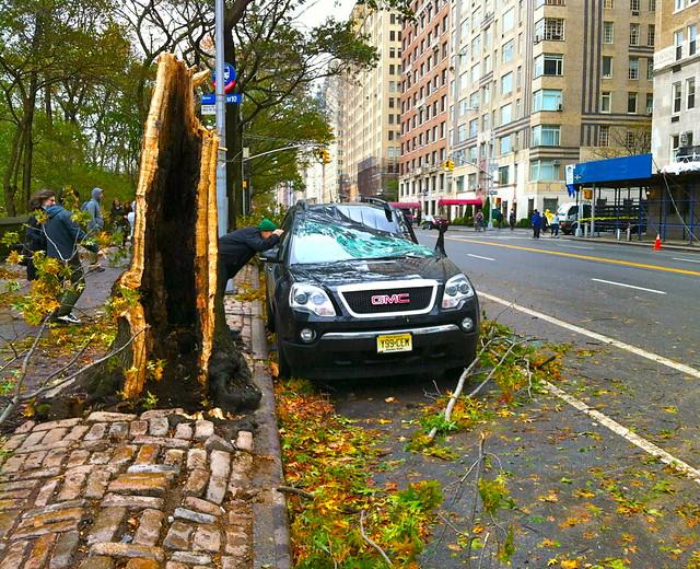 Hurricane Sandy, Upper West Side of Manhattan, NYC