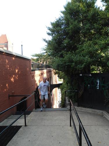 "Las escaleras de ""El Exorcista""/""Exorcist Steps"", Georgetown, Washington DC 2012, USA - www.meEncantaViajar.com by javierdoren"