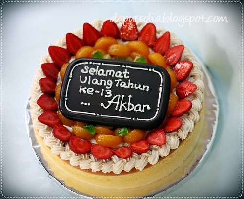 Cheddar Cheese Cake for Akbar 13th Birthday