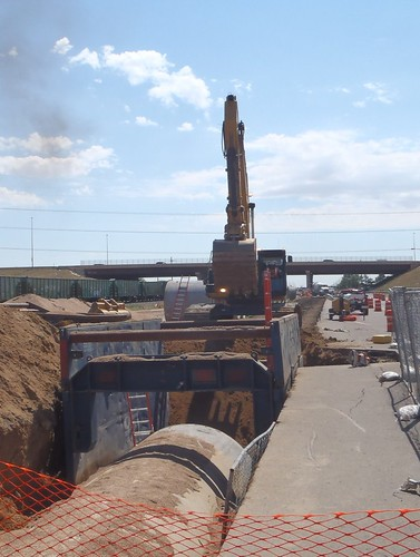Water Line Installation on Smith Road at I-225