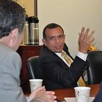 Honduran President Porfirio Lobo visits Brandeis IBS.