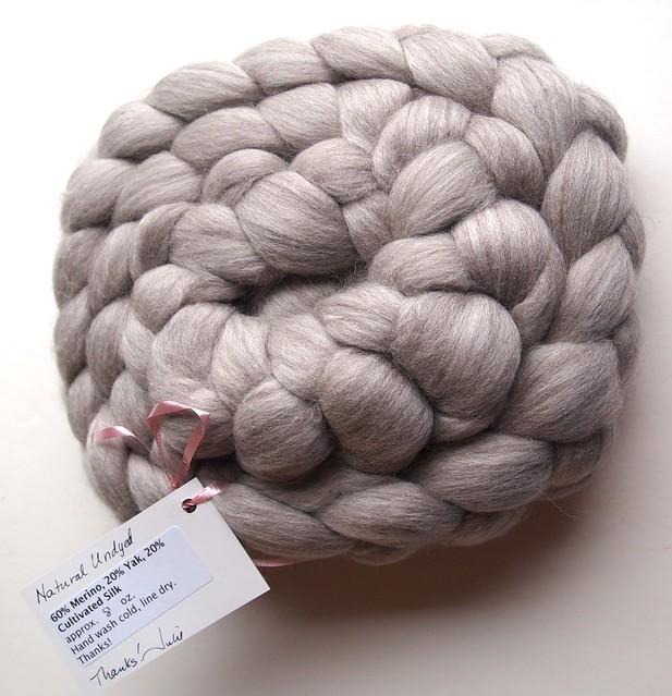 Julie Spins-60/20/20 Merino/Yak/cultivated Silk - 8oz