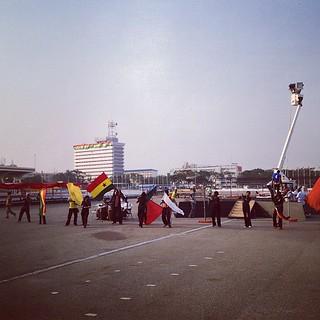 Preparations ongoing for the Inauguration of John Mahama. #Ghana