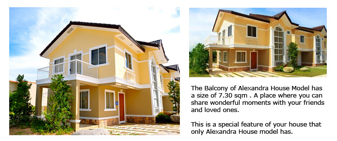 House and Lot for Sale in Imus Cavite near MOA at Lancaster Estates. Alexandra House Model with Balcony
