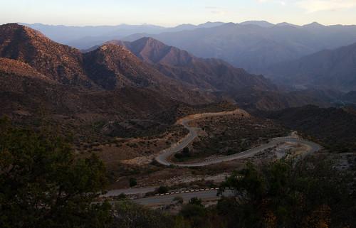 road light sunset mountain mountains twilight view iran state south border illumination hills armenia vista winding iranian curve overlook preserve province armenian curving syunik սյունիք shikahogh
