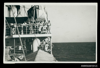 Migrants onboard PROTEA, on the voyage to Australia