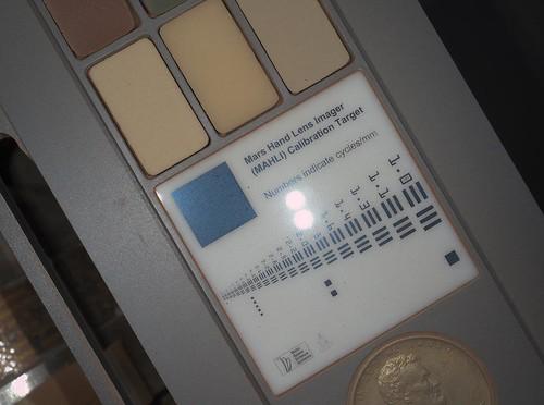 CURIOSITY - MAHLI target di calibrazione