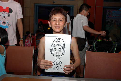 caricature live sketching for Mark Lee's daughter birthday party - 20