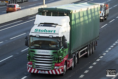 Scania R480 6x2 Tractor - PX61 BBV - Isla Bowe - Green & Red - Eddie Stobart - M1 J10 Luton - Steven Gray - IMG_0534