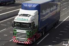 Scania R440 6x2 Tractor - PE11 HLV - Audra Ann - Green & Red - Eddie Stobart - M1 J10 Luton - Steven Gray - IMG_8985