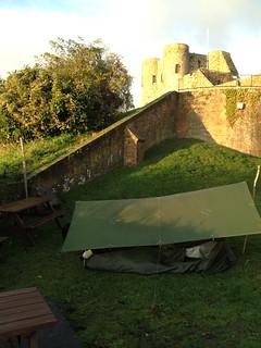 Sleeping in pub garden, Rye