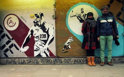 Stencils en Portobello Road