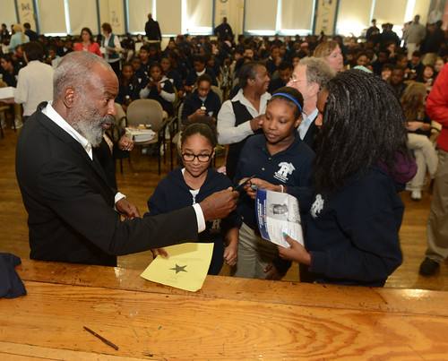JACKIE ROBINSON�S SON, DAVID, JOINS RED SOX TRIBUTE AT BOSTON MIDDLE SCHOOLS