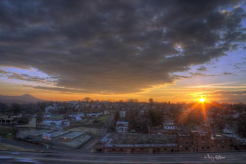 street morning houses winter sky sun mountain clouds self sunrise dawn virginia highway warm bright storage roanoke terry hdr wakening wildly aldhizer terryaldhizercom