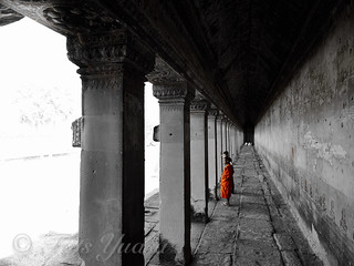 priest at Angkor Wat