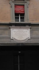 Photo of Guglielmo Marconi white plaque