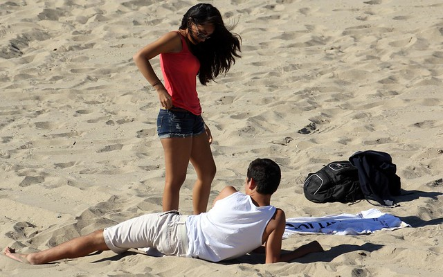 Santa Monica beach is the place for romance - California, USA