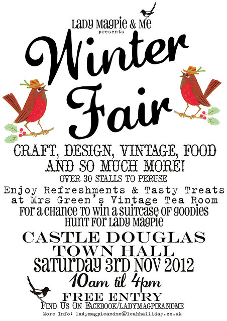 Lady Magpie & Me WinterFair Poster A4