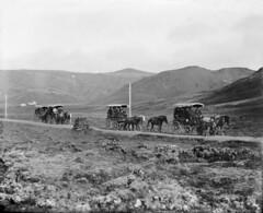 Ferðafólk á hestvögnum, um 1915