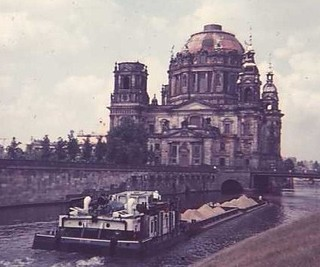 Berliner Dom and Barge on the River Spree