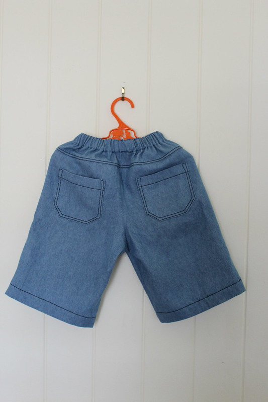 toddler denim shorts back