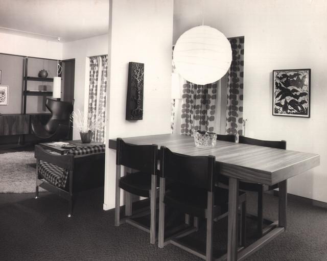 Habitat67 photo08 (intérieur salle a manger 1968)