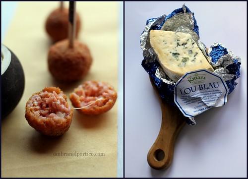 Arancini con rapa rossa e formaggio