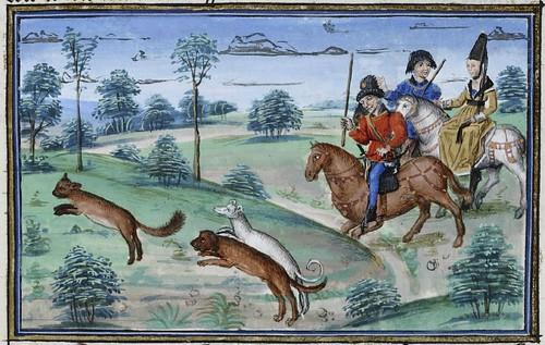 15th century illuminated manuscript miniature: Henri de Ferrières, Les Livres du roy Modus et de la royne Ratio 68