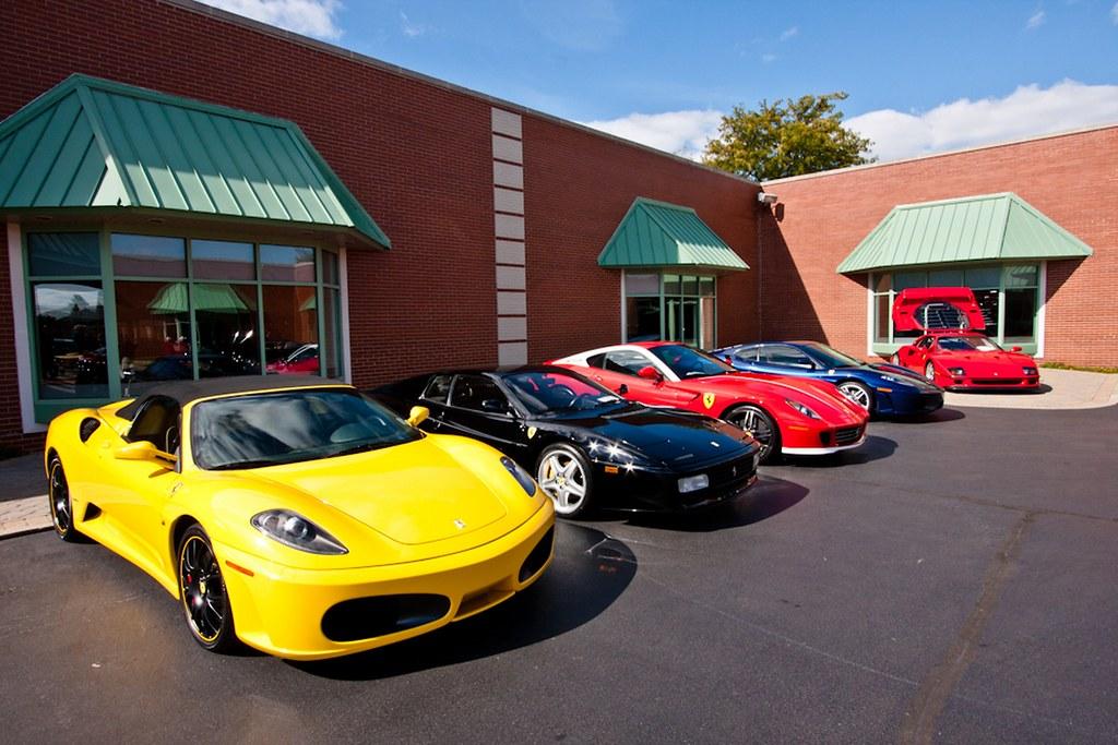 Mix of Ferraris