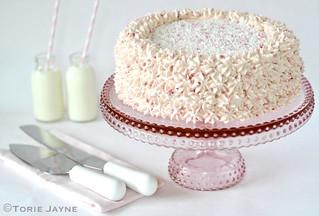 Gluten free raspberry cream cake