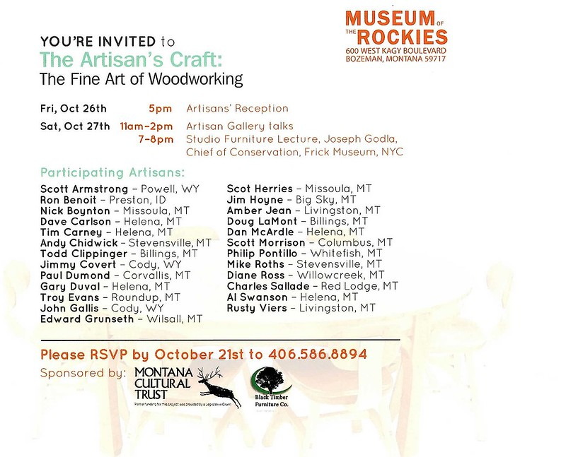 Fine Art of Woodworking Invitation-Back