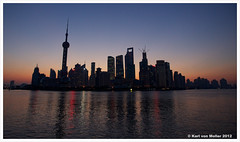 Shanghai: the Bund at sunrise
