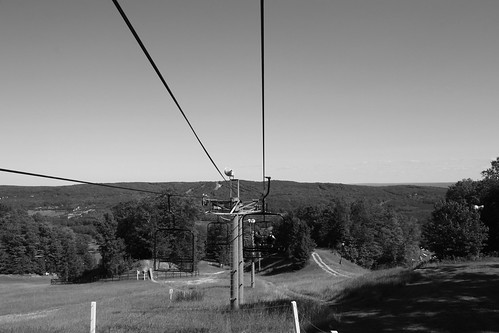wedding friends summer bw white black ski nature beautiful lines golf fun town village lift weekend michigan scenic marriage chapel september resort tennis wires 600 late suspended elevated northern slope harborsprings laborday 2012 suspense boynehighlands highlandsdr