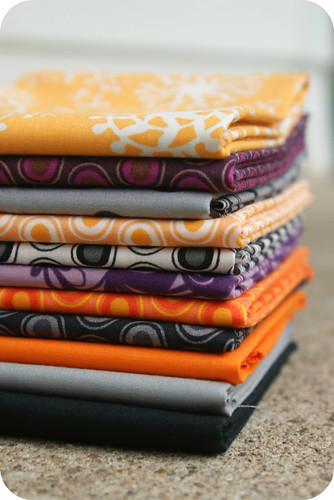 yummy halloweenish fabrics.