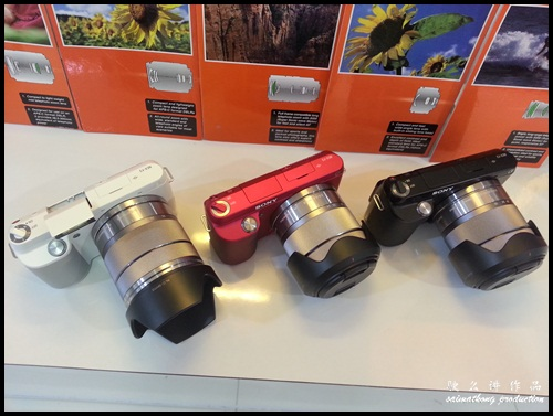 Interchangeable Lens Camera Promotion by SenQ - Sony NEX-F3K - Color Black, White, Pink