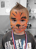 Lucas having his face painted