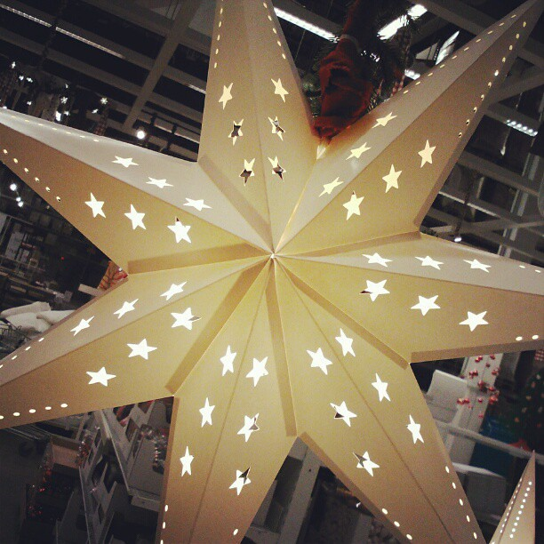 Christmas decoration ikea star with led lights flickr for Christmas star outdoor lights decorations